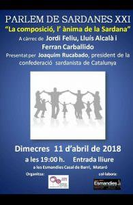 Conferència sobre la composició de sardanes @ Les Esmandies Casal de Barri
